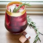 "Marionberry – Rosemary ""Rain Drop"" Cocktail"