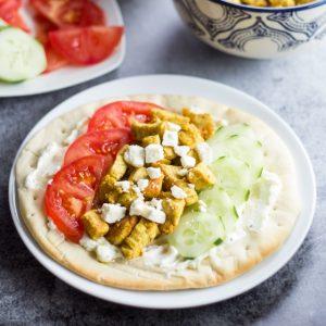 20 Minute Mediterranean Chicken Pita Sandwich