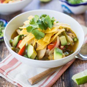 Super Easy Chicken Fajita Soup