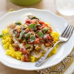 Tilapia Veracruz with Saffron Rice
