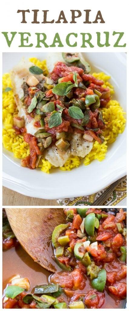 Tilapia veracruz with saffron rice the wanderlust kitchen for Fish veracruz recipe