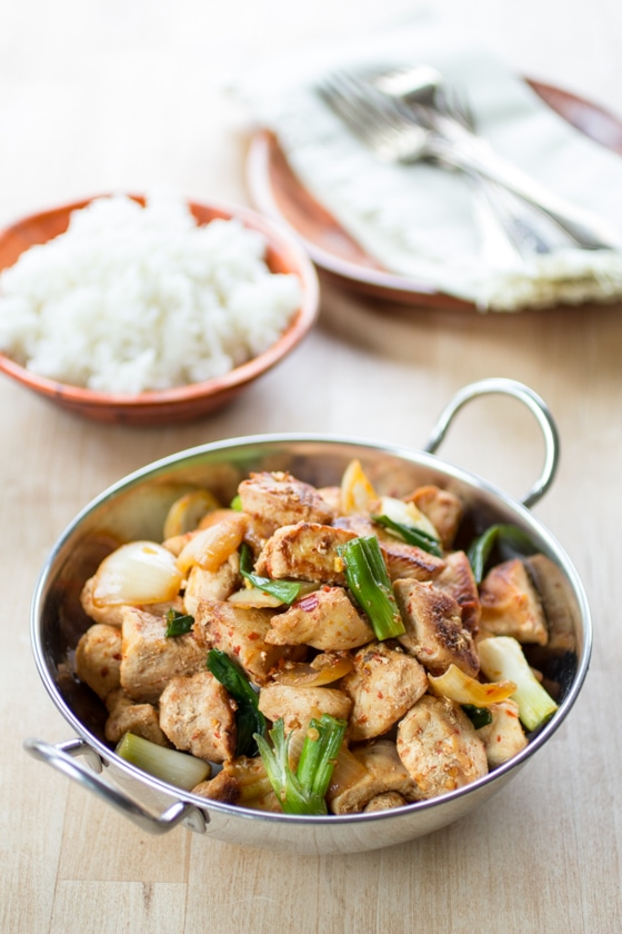 Simple malaysian stir fried chicken the wanderlust kitchen simple ingredients are brought to life with a hot chili sambal sauce in this simple malaysian forumfinder Images
