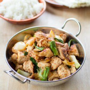 Simple Malaysian Stir Fried Chicken