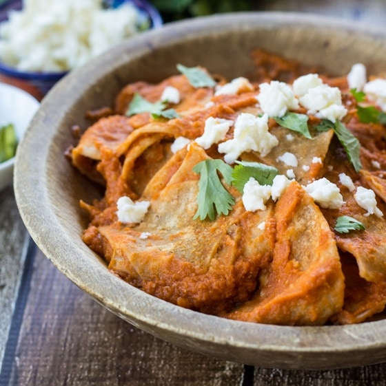 Mexican Chilaquiles Rojos - The Wanderlust Kitchen
