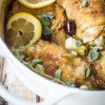 Greek Braised Chicken Thighs