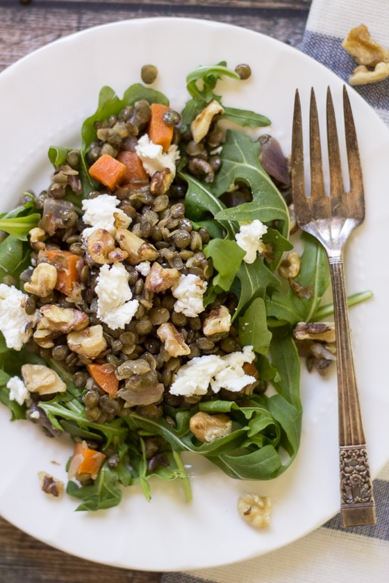 ... goat cheese make this classic French Lentil Salad a special treat
