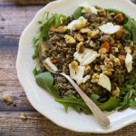 French Lentil Salad with Walnuts and Goat Cheese