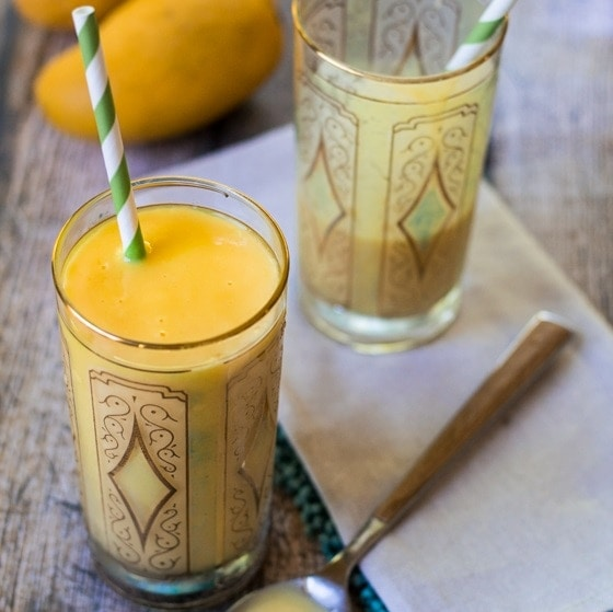 How to Make Mango Lassi - everyone's favorite creamy, dreamy Indian restaurant classic from an easy, delicious Mango Lassi recipe!
