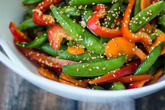 Super-easy and super-quick Asian snap pea recipe.