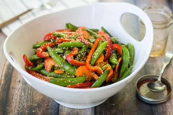 Looking for snap pea salad recipes? Try this delicious one today! Super-easy and super-quick Asian Snap Pea Salad recipe.