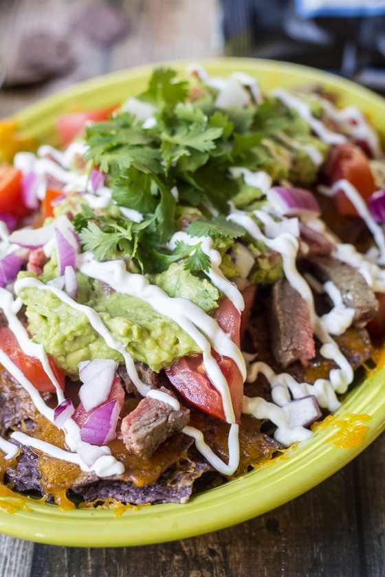 These loaded chips are the perfect hybrid between classic nachos and carne asada fries!