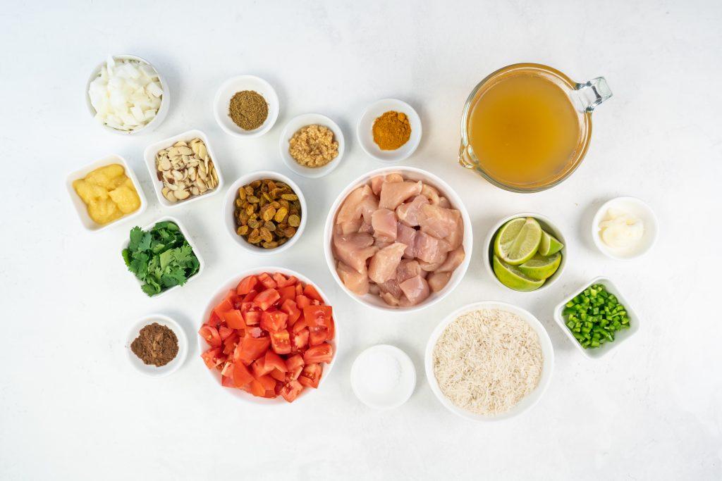 How to make Chicken Biryani. Chicken Biryani ingredients.
