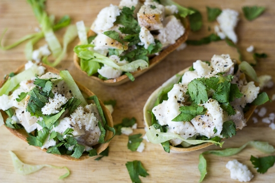 Make these Mini Chicken Caesar Tacos for an easy dinner or a fun party snack!
