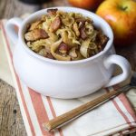 Beer Braised Cabbage with Bacon and Apples