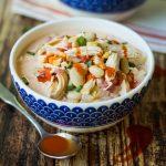 Creamy Buffalo Ranch Crockpot Chicken Soup