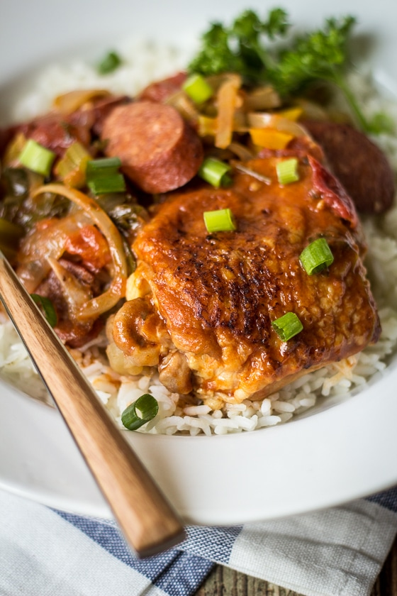Creole Chicken and Sausage Gumbo - The Wanderlust Kitchen