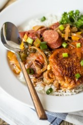 The secret to good gumbo? Starting with the perfect roux. Try my trick for oven-toasting your flour to free up your hands, time, and sanity!