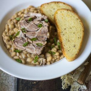 Crockpot Tuscan Pork and Beans