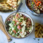 Turkish Cucumber, Feta, and Tomato Salad