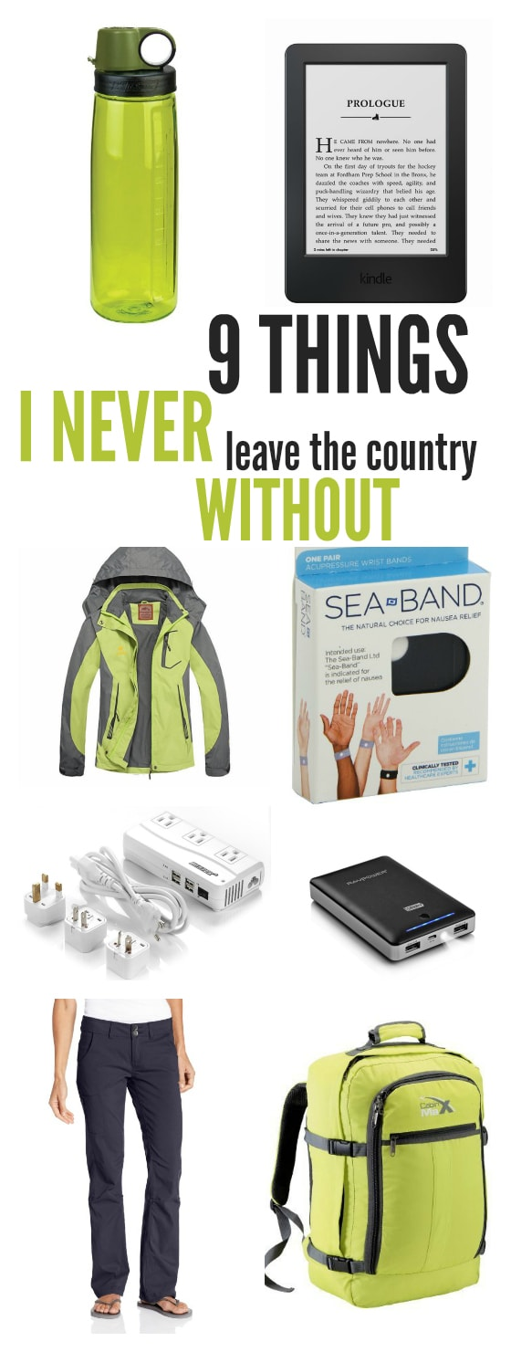 9 Things I Never Leave the Country Without