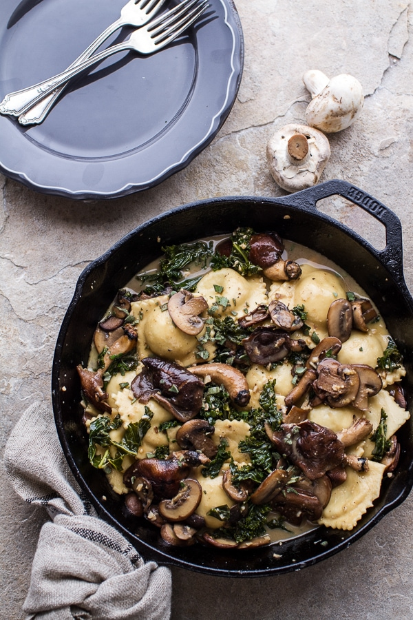 Taleggio-Ravioli-with-Garlicy-Butter-Kale-and-Wild-Mushroom-Sauce-+-Toasted-Pine-Nuts.-61