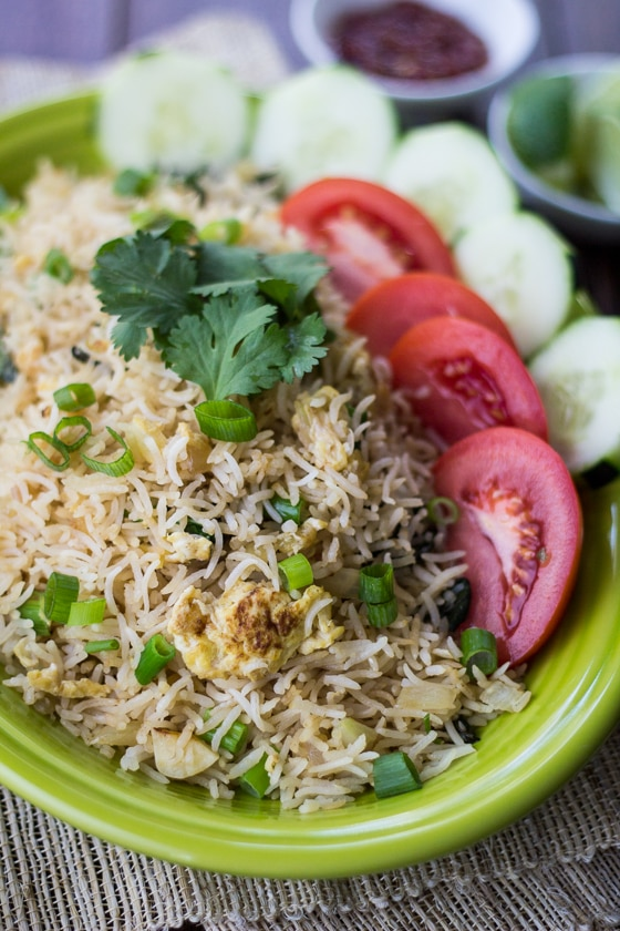 The best way to use up leftovers: Classic Thai Style Fried Rice! You might call it Fried Rice Thai, and I'm okay with that.