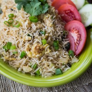 The best way to use up leftovers: Classic Thai Style Fried Rice!