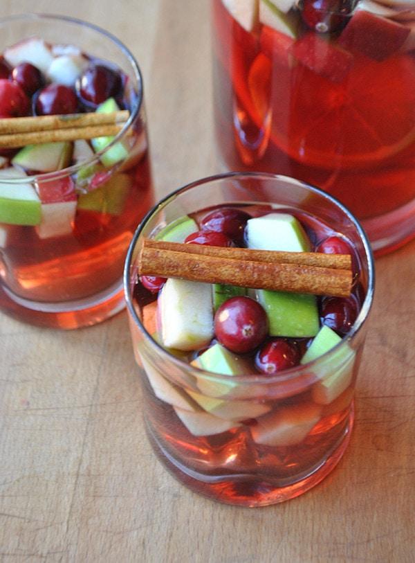 Cinnamon Cranberry Holiday Sangria | 9 Cozy Sangrias for Winter