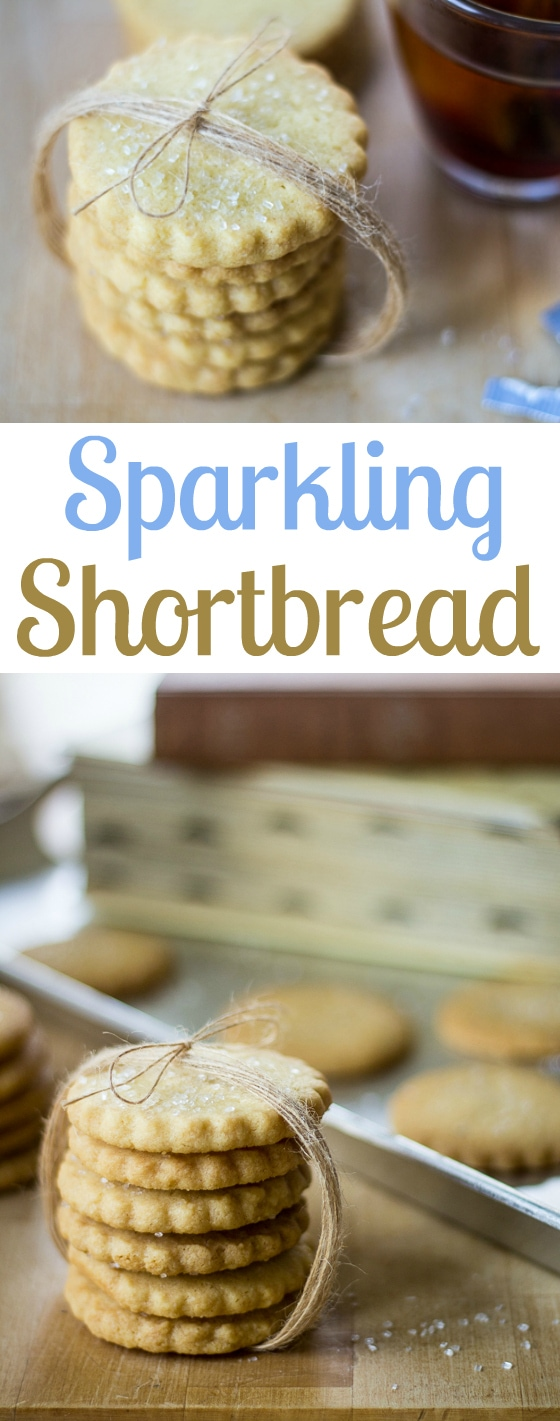 Sparkling Shortbread Cookies: This decorative take on a classic cookie recipe is perfect for holiday baking, or any time of year when you need a special treat!