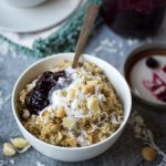 5 Minute Creamy Coconut Oatmeal with Macadamia Nuts
