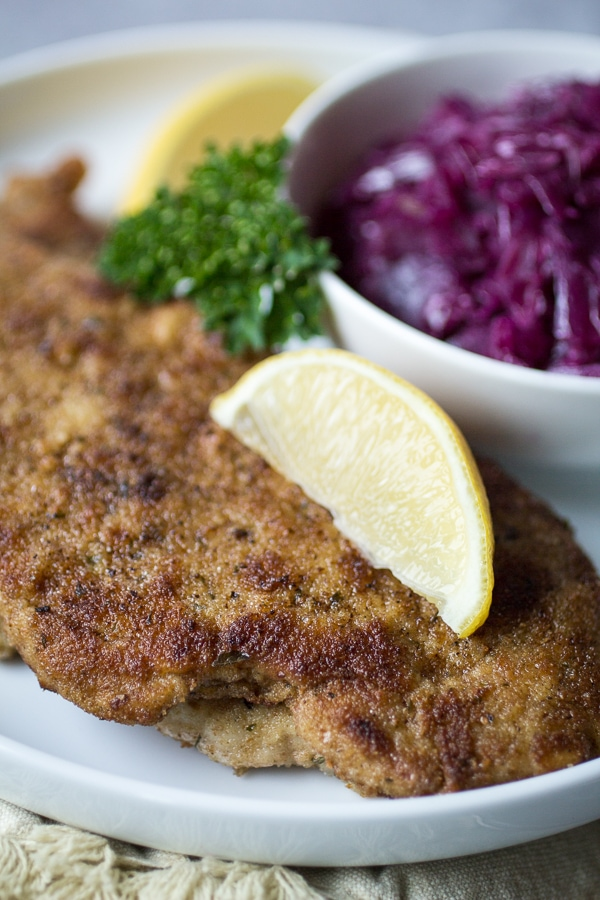 Pan-fried with a simple breading, this German-style recipe takes pork to a whole new level. Pork Schnitzel is a 30-minute dinner recipe that will quickly become a family favorite!