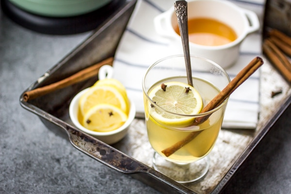 You don't have to be under-the-weather to enjoy a hot toddy! A mug full of this steamy cocktail is only 5 minutes away.