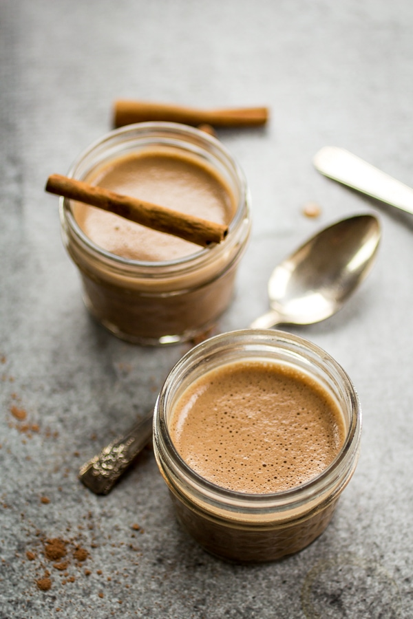 Fragrant cinnamon and spicy cayenne pepper add a Mayan flair to this Chocolate Pot de Creme recipe!