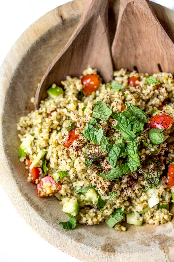 This is a delicious Freekeh recipe! If you like tabbouleh, you'll love this Freekeh Salad with Minted Sumac Dressing!
