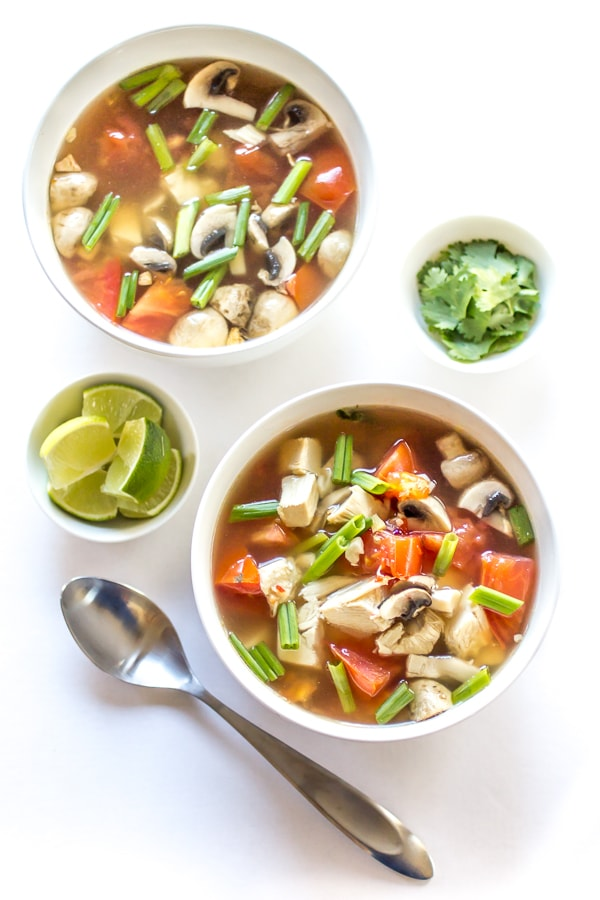 When you're feeling under the weather (or just in need of something delicious), this Spicy Thai Chicken Soup hits the spot every time!