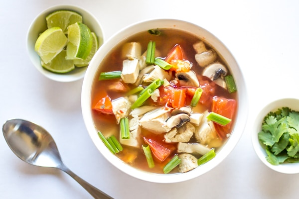 Need a spicy soup for colds? Here is a great one! When you're feeling under the weather (or just in need of something delicious), this Spicy Thai Chicken Soup hits the spot every time!