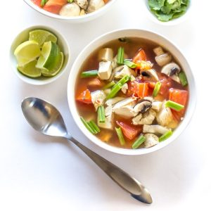 Spicy Thai Chicken Soup is just what you need when you're feeling under the weather (or just in need of something delicious)!. Hits the spot every time!