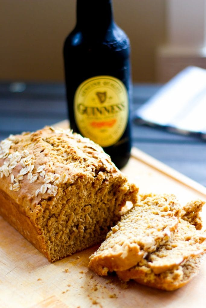 Guinness Beer Bread | Just in time for St. Patrick's Day! 12 Vegetarian Guinness Recipes - on thewanderlustkitchen.com