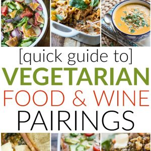 Red wine with beef, white wine with fish, right? What about vegetarian recipes? Check out this quick guide to Vegetarian Food & Wine Pairings for recommendations on how to pair wine with classic (and exotic!) vegetarian soups, salads, dinners, lunches, and everything in between!