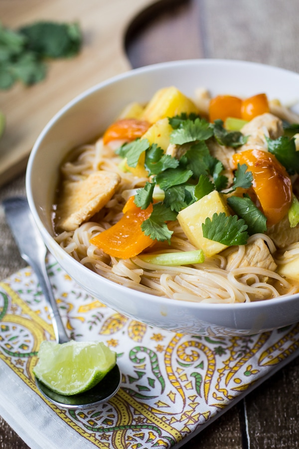 Slurpy Thai Curry Noodles | A week of delicious recipes inspired by places around the world!