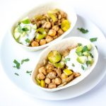 Indian Chickpea Tacos with Easy Cucumber Raita