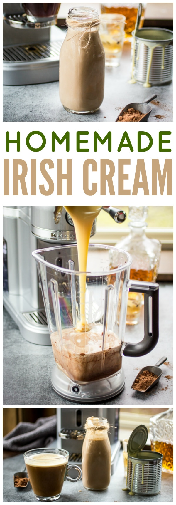 The best way to perk up any cup of coffee - homemade Irish Cream!