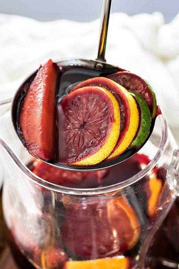 Mango Cointreau Sangria | A week of delicious recipes inspired by places around the world!