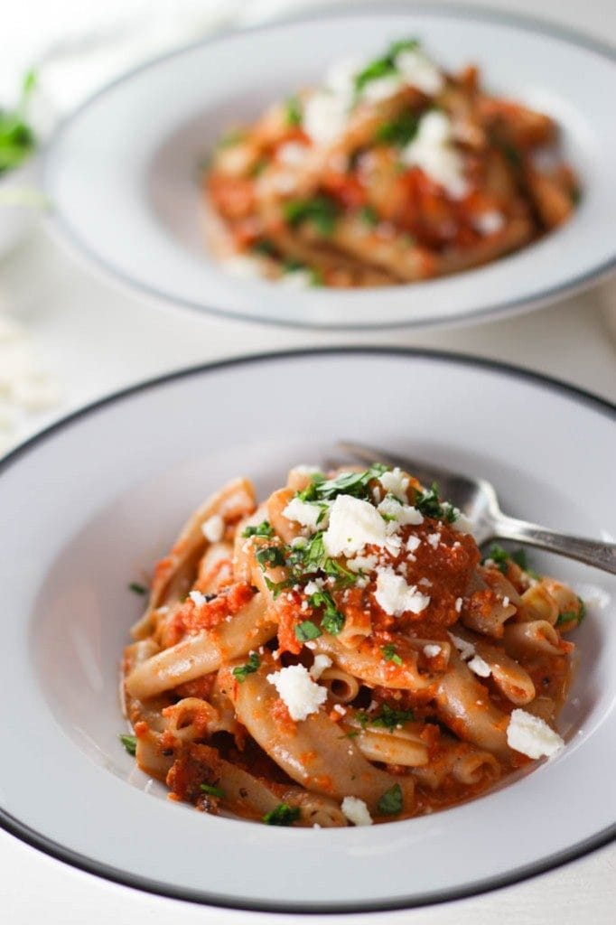 Pasta with Chipotle Cream Sauce | Inspired Italian Recipes - Week 7 - Wanderlust Meal Plan