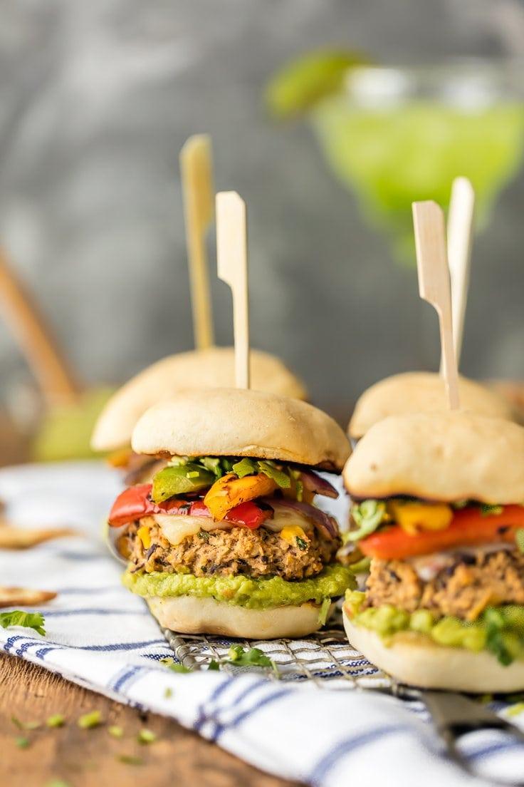 Fajita Black Bean Burger Sliders | World Cravings - Week 8 - Wanderlust Meal Plan