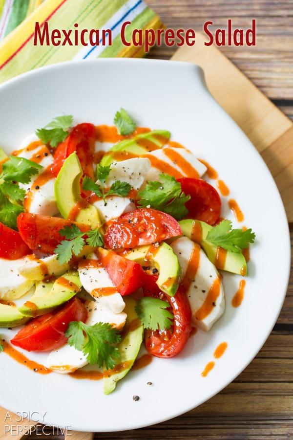 Mexican Caprese Salad | World Cravings - Week 8 - Wanderlust Meal Plan