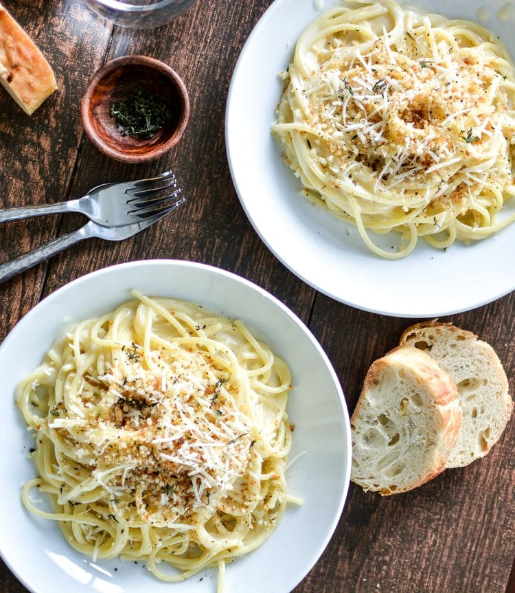 Pecorino Spaghetti with Toasted Breadcrumbs | Inspired Italian Recipes - Week 7 - Wanderlust Meal Plan