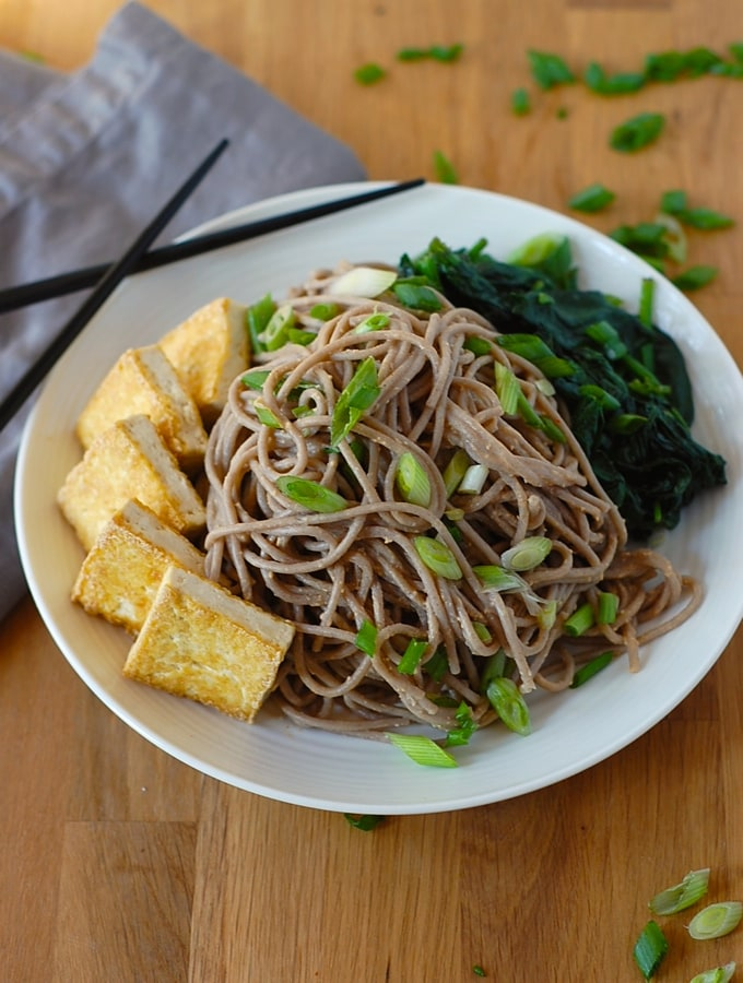 Soba Noodles with Tofu and Spicy Sesame Sauce  | World Cravings - Week 8 - Wanderlust Meal Plan