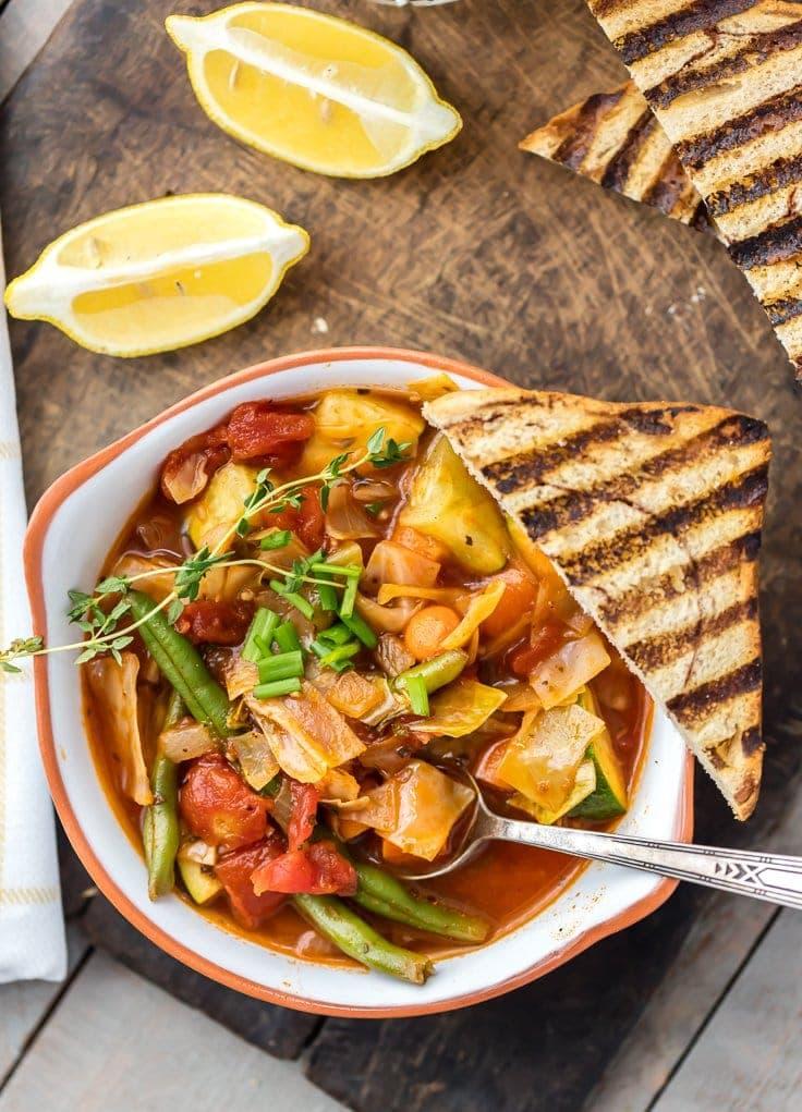 Healthy Cabbage Soup | Make Ahead Meatless - Week 9 - Wanderlust Meal Plan