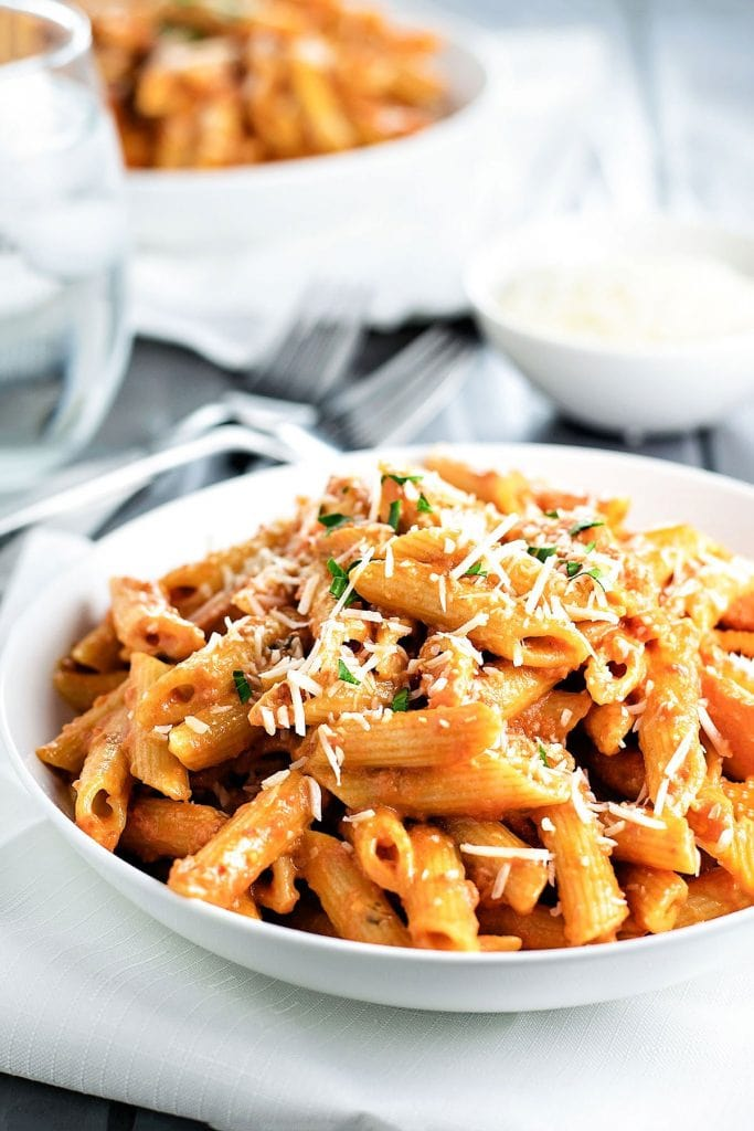Penne Alla Vodka | A week of delicious recipes inspired by places around the world!